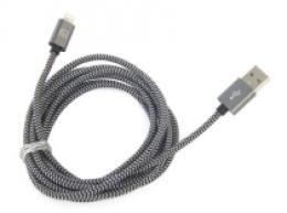 Tucano Cotone, textilní Lightning kabel 200cm - černý