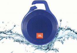JBL Clip+ Blue - ultrapřenosný voděodolný reproduktor s Bluetooth a mikrofonem