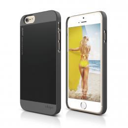 ELAGO S6 Outfit, tenký plastový obal pro iPhone 6, šedo-černý