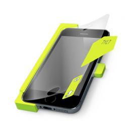 Tylt ALIN, folie na displej s aplikátorem pro iPhone 5S/5, čirá 3ks + matná 1ks