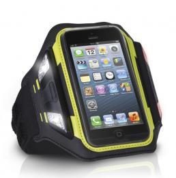 XtremeMac Sportwrap, pouzdro na ruku pro iPhone SE/5S/5 - černé s diodami