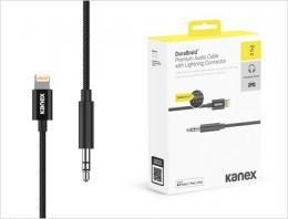 Kanex DuraBraid Lightning kabel s 3,5mm sluchátkovým jack konektorem (1m)